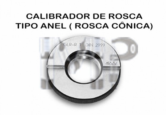 Calibrador de Rosca Polegadas Preço Santo Amaro - Calibrador de Rosca Tipo Anel