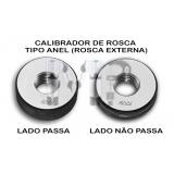 calibrador de rosca tipo anel Sorocaba